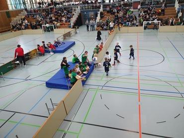 Hallen-Fußball in der Albgauhalle in Ettlingen