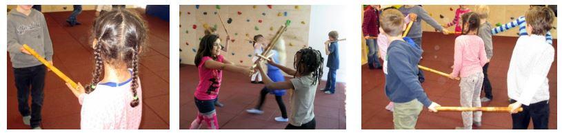 Für Kinder: Stockkampfkunst und Rhythmus