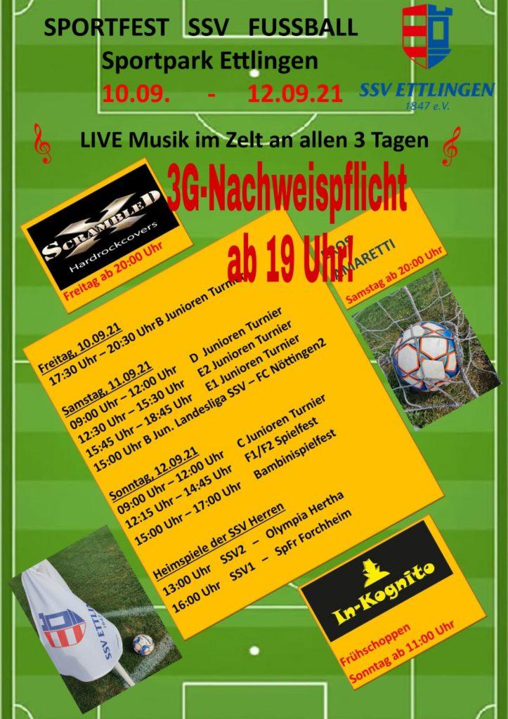 Herbstsportfest mit Jugendturnieren und Seniorenspielen bei der SSV Ettlingen