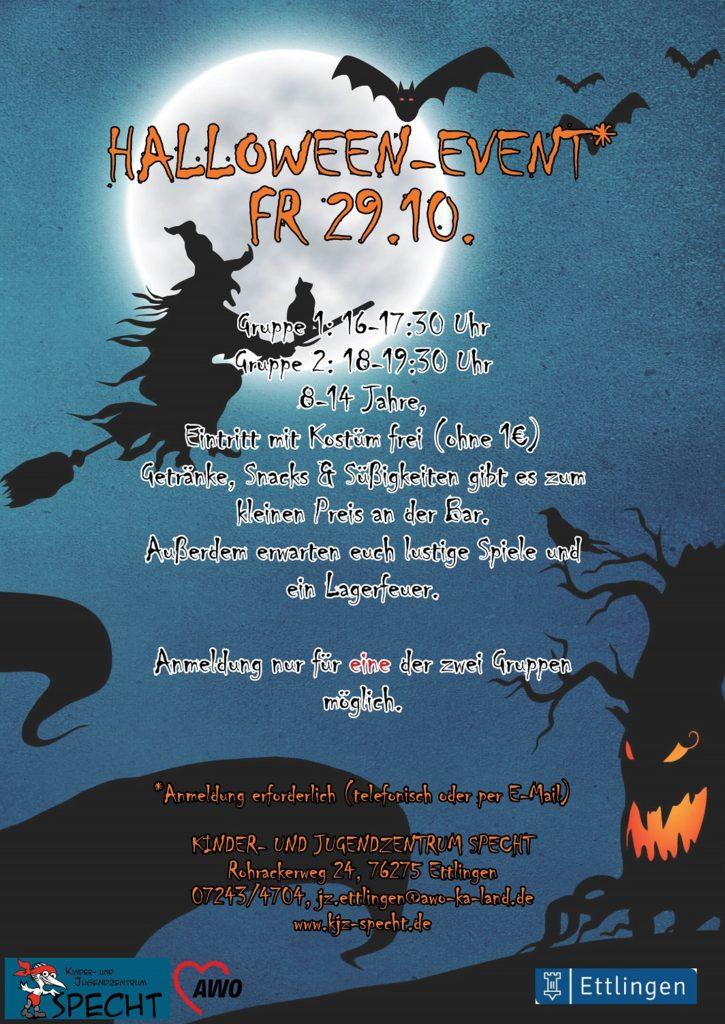 Halloween-Event am Freitag, 29.10. für Kinder und Jugendliche von 8 bis 14 Jahren